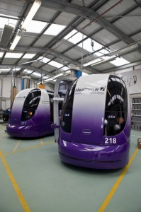 Heathrow pods in depot