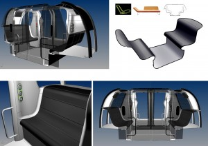 Pod vehicle interior design